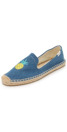 Soludos Pineapple Smoking Slipper Espadrilles | SHOPBOP