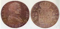 8 Reales - 1 Duro - 20 Reales vellón - 30 Sous - 5 Pesetas. Reus (Cataluña), 1809
