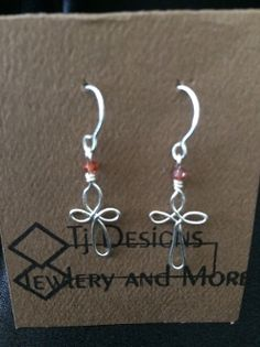 Jewelry Forever Cross earrings, .999 fine silver,Hand crafted