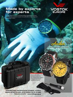 Vostok-Europe Anchar watch is being tested in real diving by a team of Greek Underwater Archaeologists