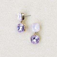 Theresa Swarovski Crystal Double Drops Ear Jewelry, Cute Jewelry, Jewelry Box, Jewelery, Jewelry Making, Wedding Accessories, Jewelry Accessories, Cute Earrings, Anklets