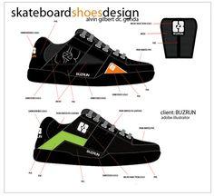 Skateboard Shoes .  Designer : Alvin Gilbert Dc. Gonda  Email: abugonda@yahoo.com