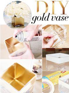 D.I.Y Gold Vase - Brighton The Day