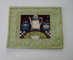 Handmade Quilted Mug Rug 166 Snack Mat Plant Mat by PeppersAttic