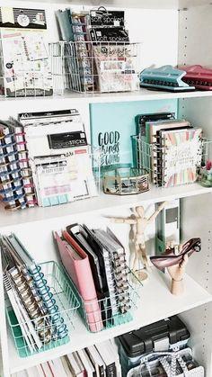 Ideas Room Organization Bedroom Diy Storage Ideas For 2019 Bedroom Desk, Closet Bedroom, Bedroom Storage, Diy Storage, Diy Bedroom, Storage Ideas, Storage Hacks, Bedroom Small, Office Storage