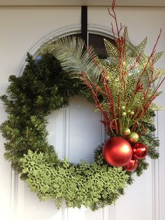 Christmas wreath I made for my front door.