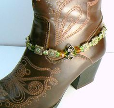 Boot Jewelry Anklet Cowgirl Jewelry Western Boot Bling Southwestern Rodeo SALE. $29.00, via Etsy.
