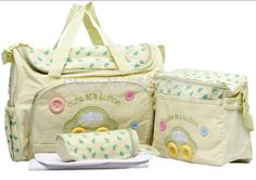 Baby bag is also known as diaper bag or nappy bag which has many pockets and sufficient space to car. Girl Diaper Bag, Baby Diaper Bags, Nappy Bags, Mama Baby, Leather Baby Bag, Baby Bags For Mom, Nappy Changing Bags, Changing Mat, Baby Yellow