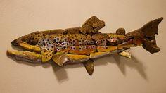 Newest sculpture  #driftwoodart #flyfishing #browntown #browntrout #creekbum