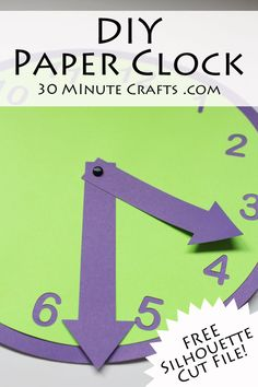 DIY Paper Clock with FREE Silhouette Cut File!