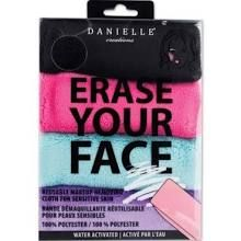 Upper Canada Soap & Candle Maker Erase Your Face 4-Pack Reusable Makeup Removing Cloth for Sensitive Skin Multi 4 Pack