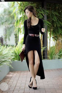 High-Low Dresses and Necklaces as Belts