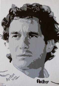 Ayrton Senna F1   #pop #art #popart #afraga #canvas #dessin #drawing #acrylique…