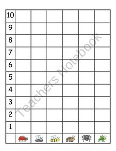 Bug Graphing from Pre K is Special on TeachersNotebook.com (3 pages)