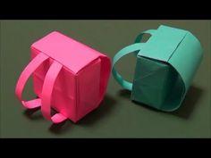 """「ランドセル」立体折り紙""""Backpack"""" origami"""