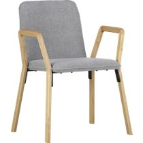 thesi heather grey chair CB2