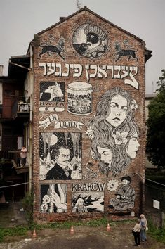 broken fingaz graffiti street art illustration israel poland jewish krakow lilien