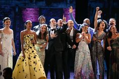 "Members of the ""Hamilton"" cast close out the Tonys with ""The Schuyler Sisters"""