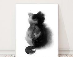 Kunstdruck/Poster Kätzchen Aquarell Druck Katze von CanotStopPrints
