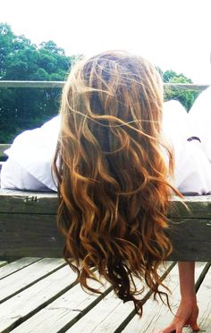 my beach wavy hair, with layers and highlights