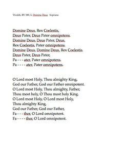 VI. Domine Deus Rv, My Love, Music, Dios, Musica, Motorhome, Musik, Muziek, Music Activities