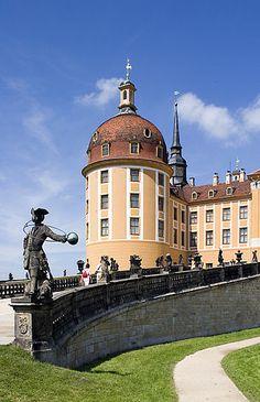 Treppe am Schloss #Moritzburg bei #Dresden