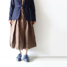 brown / navy i c h i AW16-02 / May Exhibition #ichi_clothes #ichi_exhibition