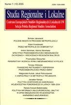 Wydawnictwo Naukowe Scholar :: :: 2005 STUDIA REGIONALNE I LOKALNE nr 1(19)