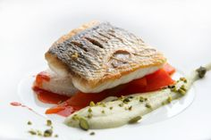 Griled Sea Bass on Red Pepper