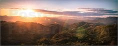 David Estrada - Panoramic view of mountains at sunset