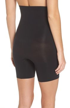 SPANX® Higher Power Mid-Thigh Shaping Shorts (Regular & Plus Size) | Nordstrom Top Band, Racerback Sports Bra, Spanx, Vintage Style Outfits, Night Out, Thighs, Nordstrom, Plus Size, Shorts