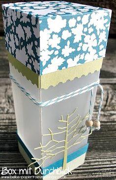 {Bellas} Papierträume: Box mit Durchblick