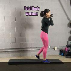 """8,275 Likes, 127 Comments - Carmen Morgan (@mytrainercarmen) on Instagram: """"Total Body WorkoutI'm using 10lb dumbbells - 3-5 Sets - Leggings: @leggingsgg - - #fitgirlvideos…"""""""