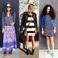 Street Style: 3 Fresh Ways To Wear Stripes: Strike a pose in stripes!