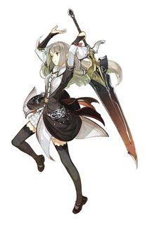 Female 》Human 》 2H Weapon