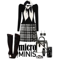 Black & White Mini by lwilkinson on Polyvore featuring Dolce&Gabbana, Report, Alexander McQueen, Rolex, Gillian Julius, Valentino, Casetify, women's clothing, women's fashion and women