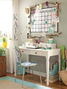 """10 Ideas for a Smarter Homework Station : Interior Remodeling : HGTV RemodelsSeize the Day  Make a large calendar the focal point of your homework area to create a simple and stress-free work environment. There's no better way to ensure homework gets turned in on time than a big square screaming, """"Due!"""""""