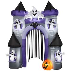airblown inflatable haunted castle archway for sale at walmart canada get halloween online at
