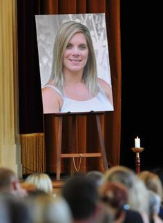 Family and friends attended a funeral for Tara Costigan in March last year.