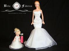 Chelsea/Kelly Doll Dress, Flower Girl, First Holy Communion, Replica, Cake topper, Personalized, Custom, Barbie, 1:12, 1/6 Scale, Keepsake www.BelaFabrica.com