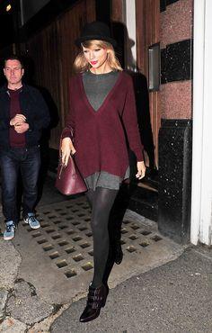 Leaving Ellie Goulding's apartment in England 10/11/14