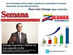 @Óscar Iván Zuluaga es el próximo presidente de #Colombia #Z Superaría a Santos en 2da vuelta. vía http://www.semana.com/Home pic.twitter.com/qQl1r75IcJ
