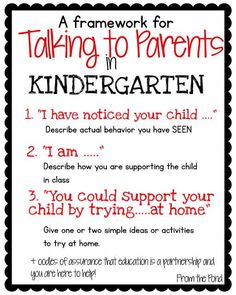 to Parents Frog Spot: Talking to Parents in kindergarten: Three step process. recommended by Charlotte's ClipsFrog Spot: Talking to Parents in kindergarten: Three step process. recommended by Charlotte's Clips Parent Teacher Communication, Parent Teacher Conferences, Family Communication, Teacher Binder, Kindergarten Teachers, Kindergarten Classroom, Classroom Ideas, Classroom Libraries, Kindergarten Activities
