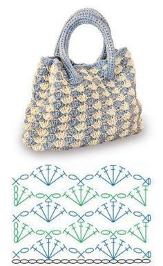 Crochet Market Bag, Crochet Tote, Crochet Handbags, Crochet Purses, Crochet Crafts, Diy Crafts, Crochet Bag Tutorials, Crochet Purse Patterns, Crochet Diagram