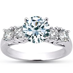18K White Gold Five Diamond Trellis Ring from Brilliant Earth