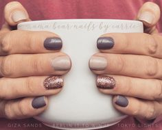 Have you ever had that manicure you couldn't stop looking at? Not because it draws your eye, but because it makes you feel peaceful inside to wear it. Nail Color Combos, Nail Colors, Stylish Nails, Trendy Nails, Fancy Nails, Cute Nails, Shellac Nails, Acrylic Nails, Nail Polish