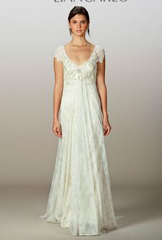 Brides.com: Fall 2013 Wedding Dress Trends. Trend: Sweet Romantic Wedding Dresses. Gown by Liancarlo  See more Liancarlo wedding dresses in our gallery.
