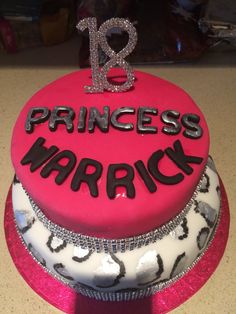 Sparkly bling 18th cake