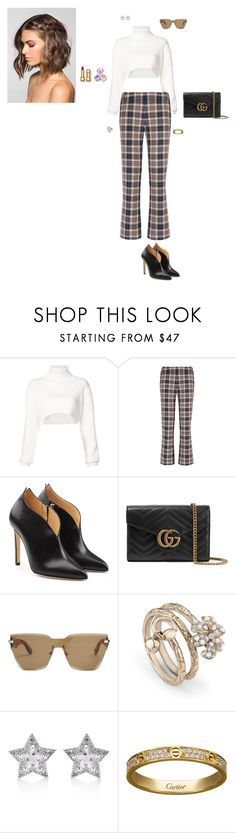 """Untitled #4429"" by gracewirth101 ❤ liked on Polyvore featuring Alexandre Vauthier, Tory Burch, Chloe Gosselin, Gucci, Givenchy, CZ by Kenneth Jay Lane, Cartier and Salvatore Ferragamo"