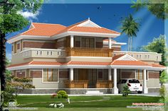 ... style house in 2320 sq.feet - Kerala home design and floor plans